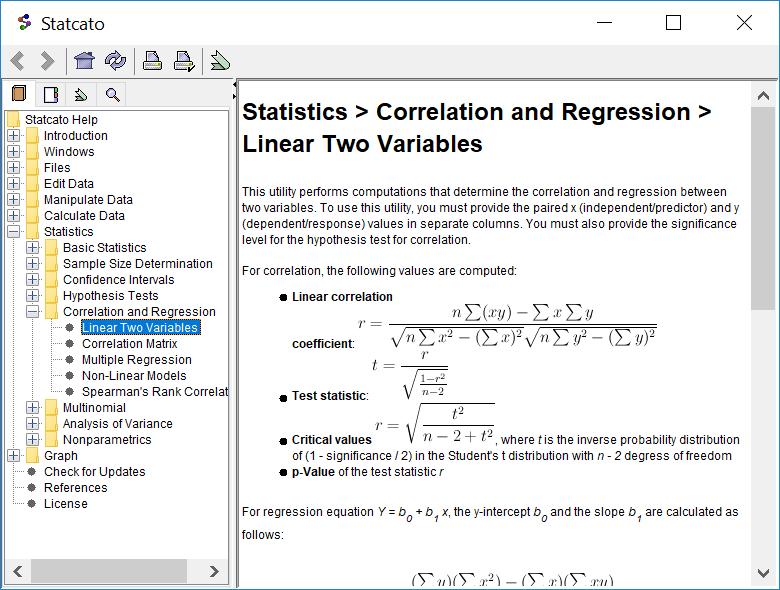 Statcato - Free Java Statistics Software